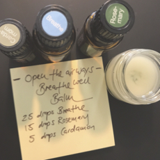 Open The Airways Essential Oil Balm.